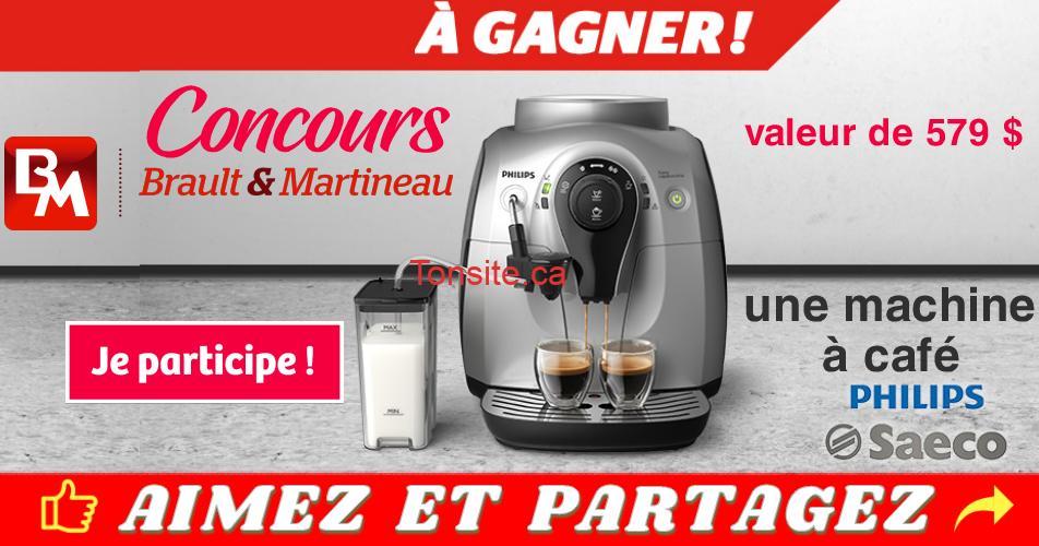brault martineau concours22 - Concours Brault & Martineau: Gagnez une machine à café Saeco (valeur de 579$)