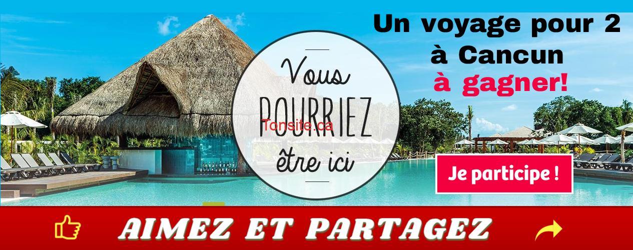 cancun concours1 - Gagnez un forfait d'une semaine pour 2 à l'hôtel Ocean Riviera Paradise, à Cancun, Mexique