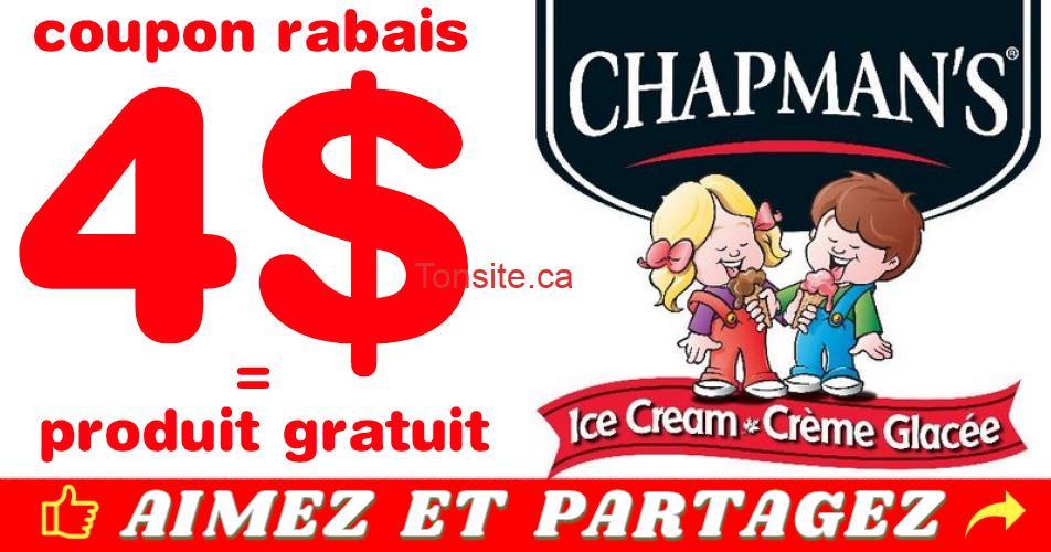 chapmans coupon4 - Coupon rabais de 4$ sur les produits Chapman's