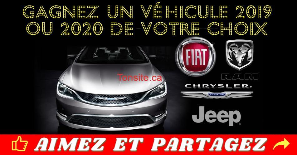 chrysler2019 2020 - Gagnez un véhicule neuf Chrysler, Jeep, Dodge, Ram ou FIAT 2019 ou 2020 de votre choix