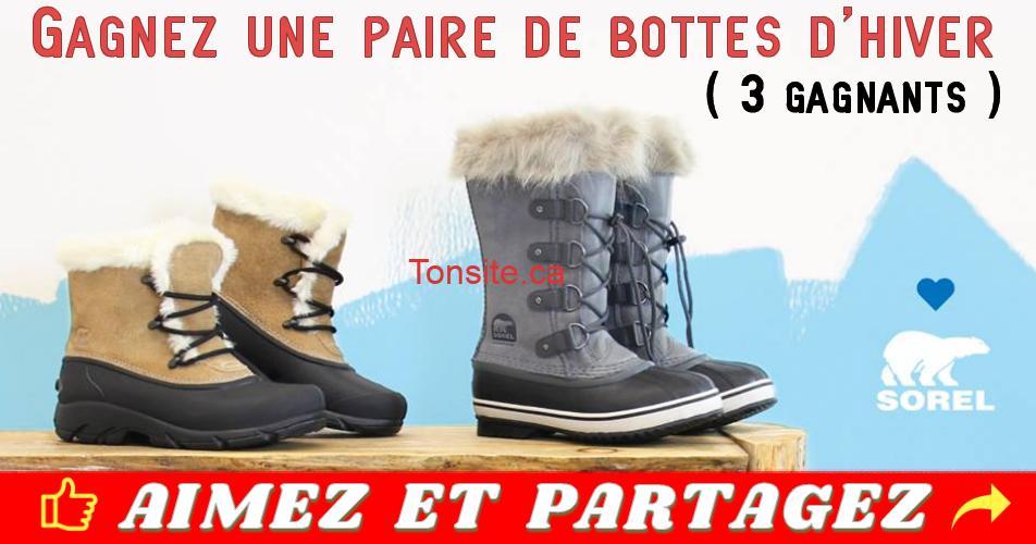 clubc concours3 - Gagnez une paire de bottes d'hiver de marque Sorel (3 gagnants)