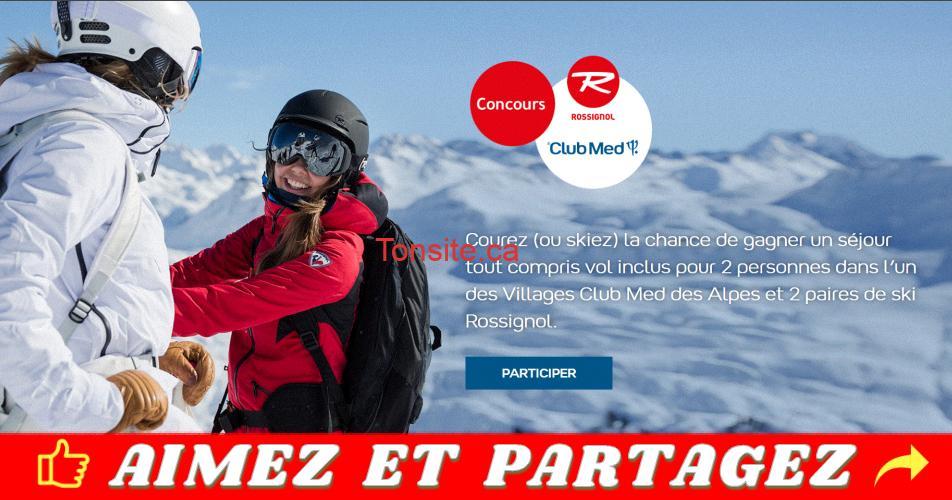 clubmed concours alpes - Gagnez un séjour tout compris vol inclus pour 2 personnes dans l'un des Villages Club Med des Alpes et 2 paires de ski Rossignol