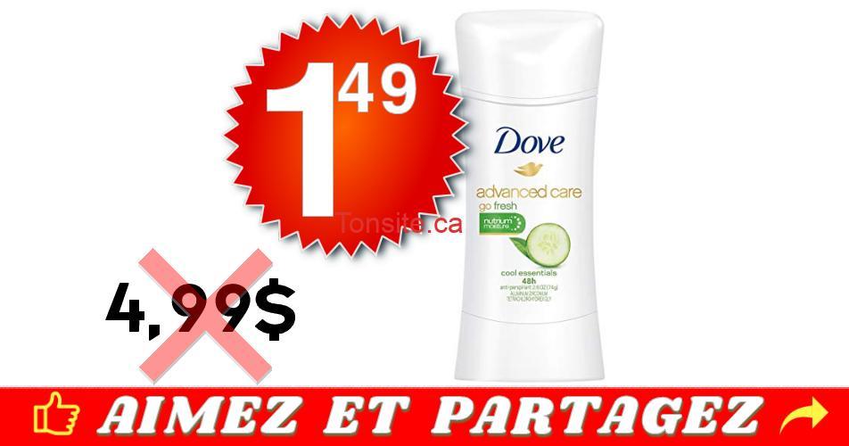 dove advanced care 149 499 - Antisudorifique Dove Advanced Care à 1,49$ au lieu de 4,99$