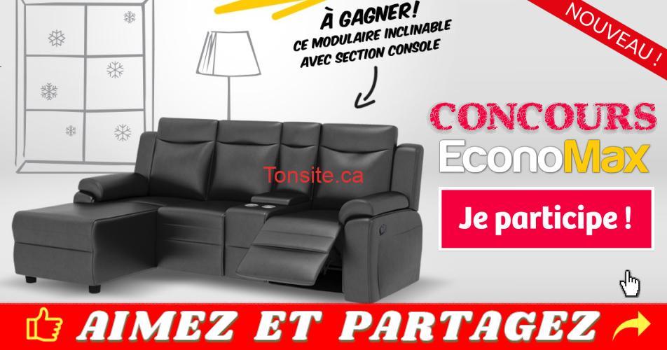 economax concours22 - Concours Economax: Gagnez un modulaire inclinable avec section console