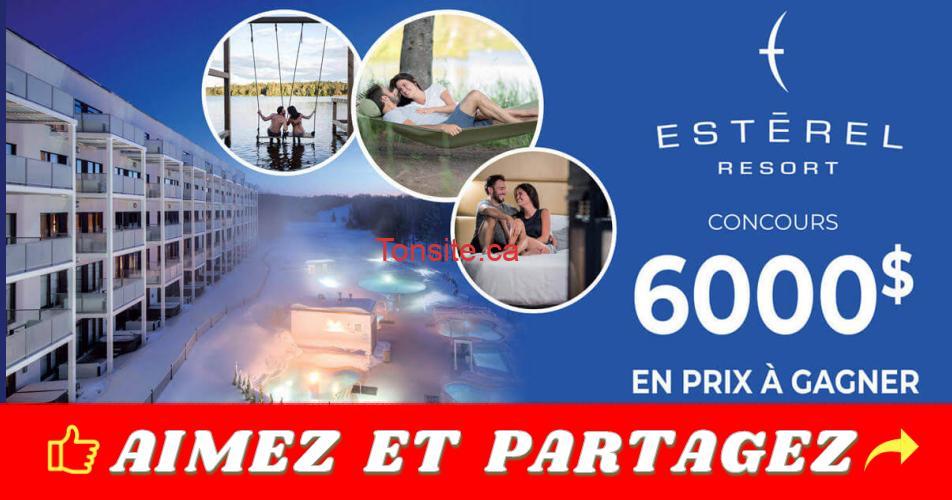 esterel concours - Gagnez 1 des 16 certificats cadeaux comprenant une nuitée en suite à L'Estérel Resort+ 50$