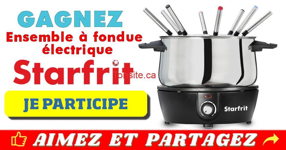 fondue starfrit concours - Gagnez un ensemble à fondue électrique Starfrit