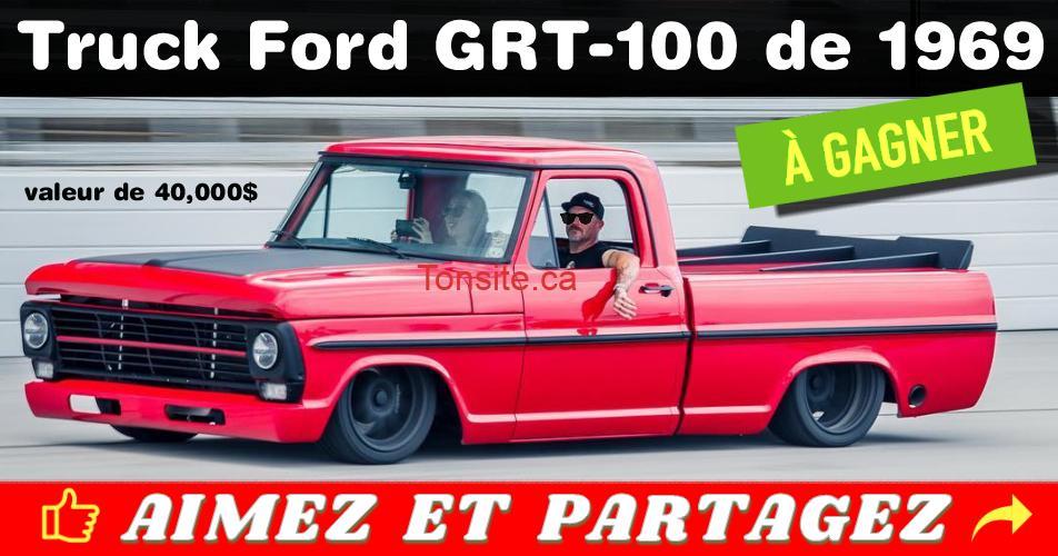 ford 1969 concours - Participez et gagnez un truck Ford GRT-100 de 1969 (valeur de 40,000$)