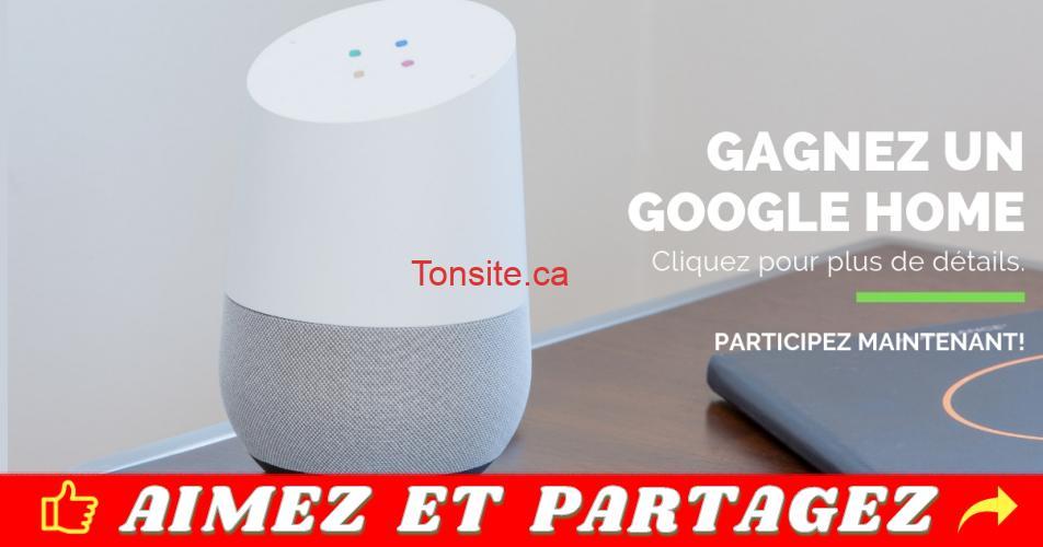home concours - Participez et gagnez un assistant Google Home!