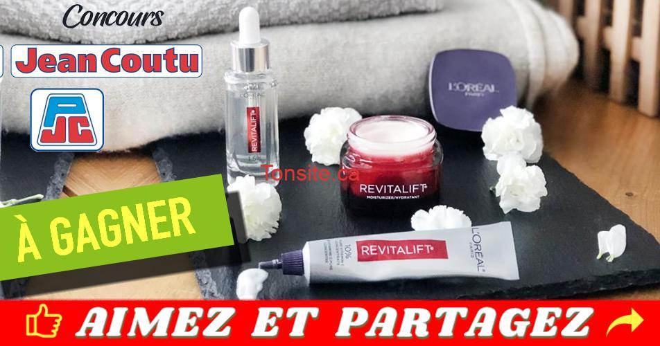 jean coutu concours9 - Concours Jean Coutu: Gagnez 1 des 3 paniers de soins Revitalift de L'Oréal Paris