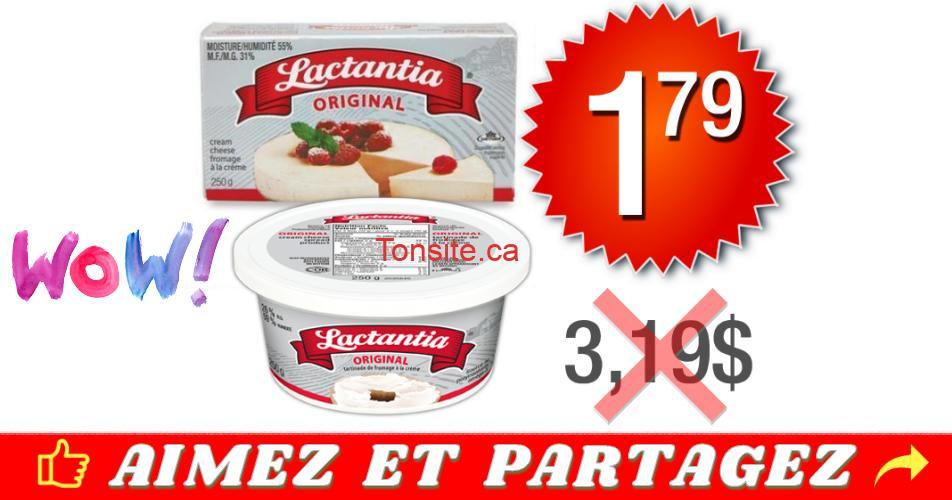lactantia 179 319 off - Fromage à la crème Lactantia Original à 1.79$ au lieu de 3,19$