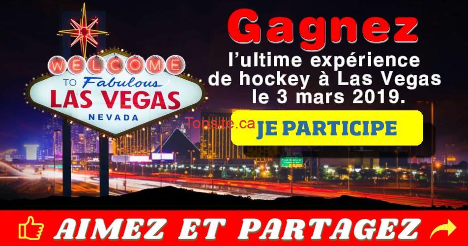 las vegas concours hockey - Gagner l'ultime expérience de hockey à Las Vegas le 3 mars 2019
