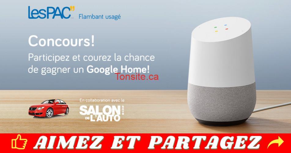 lespacs concours - Concours LesPAC: Participez et gagnez un Google Home