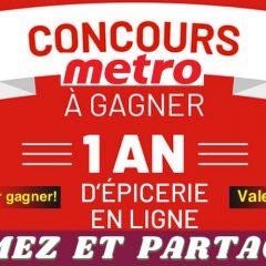 metro concours 2019 1 240x240 - Concours Metro 2019: Gagnez un an d'épicerie en ligne (valeur de 7800$)