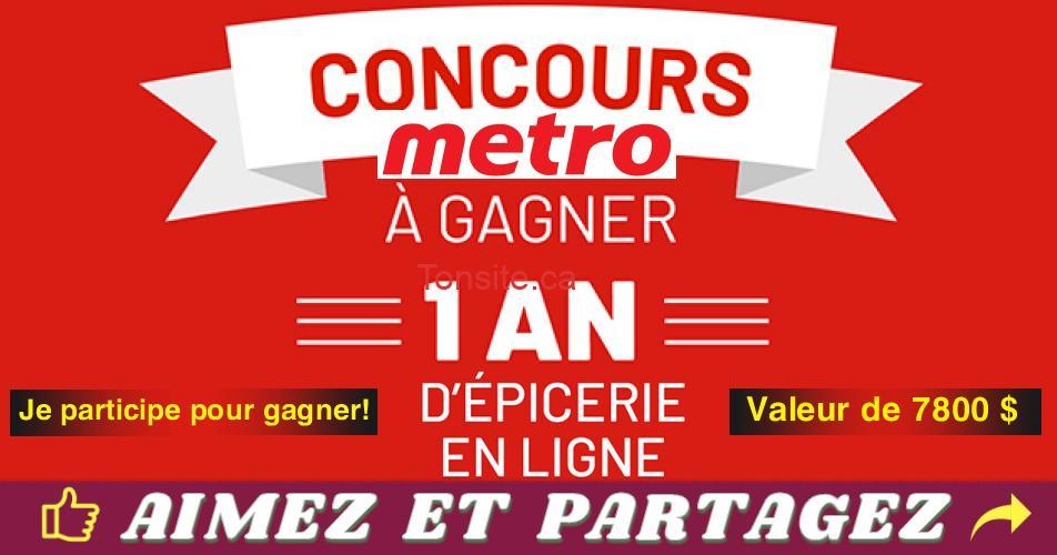 metro concours 2019 1 - Concours Metro 2019: Gagnez un an d'épicerie en ligne (valeur de 7800$)