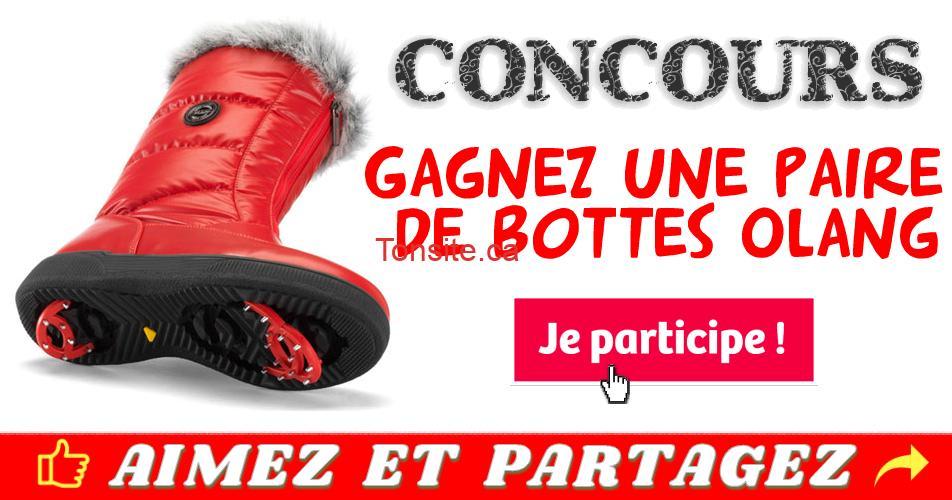 olang concours2 - Participez et gagnez une paire de bottes Olang