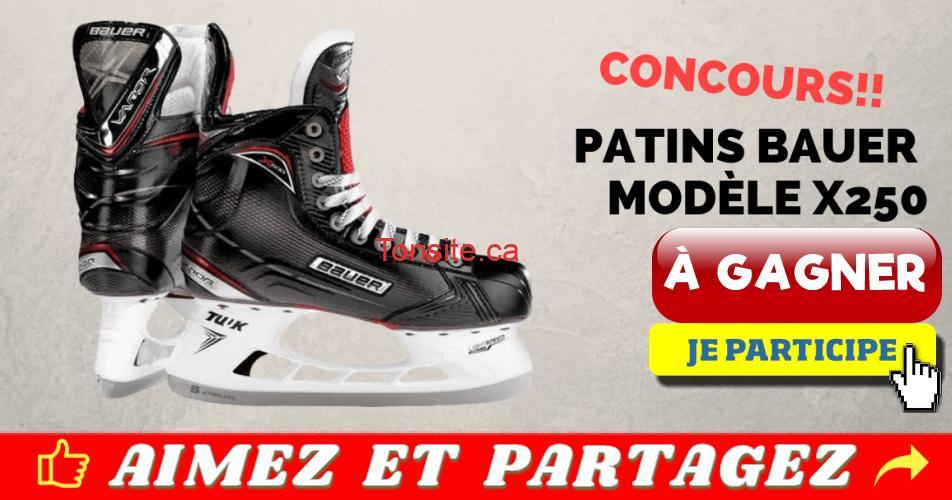 patins concours - Participez et gagnez une paire de patins Bauer Modèle X250