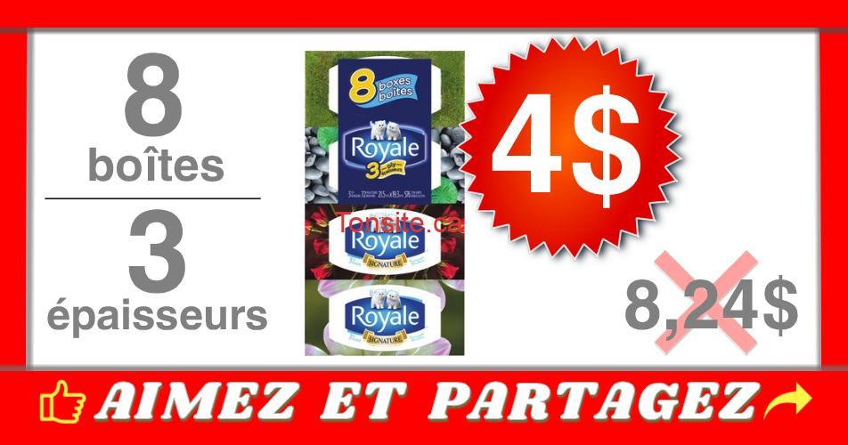 royale 8 4 - Emballage de 8 boîtes de papier mouchoirs Royale à 4$ au lieu de 8,24$ (avec coupon)