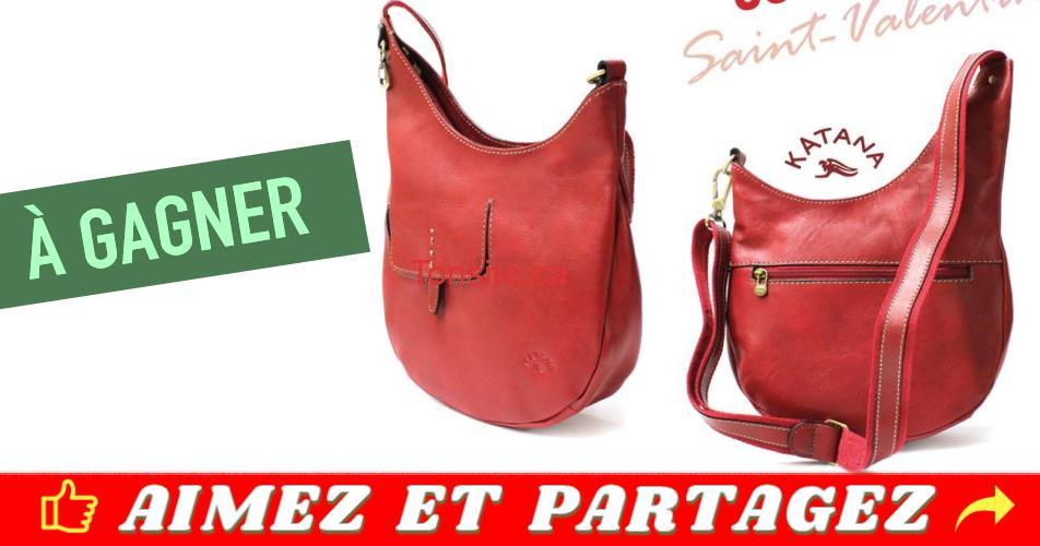 sac concours - Gagnez un magnifique sac rouge de marque Katana, fait de cuire véritable haut de gamme