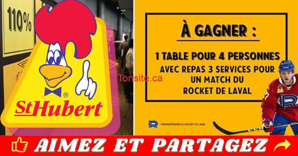 st hubert concours 2019 1 - Concours St-Hubert: Gagner une table pour 4 personnes pour un match du Rocket de Laval à la Place Bell