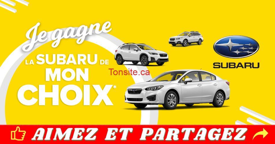 subaru concours2019 - Gagnez une location de 24 mois d'une Subaru (modèle au choix)