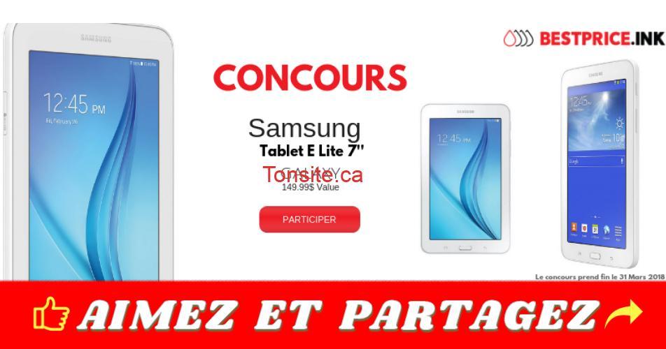 tablette concours1 - Participez pour gagner une tablette Samsung Galaxy Tab E Lite