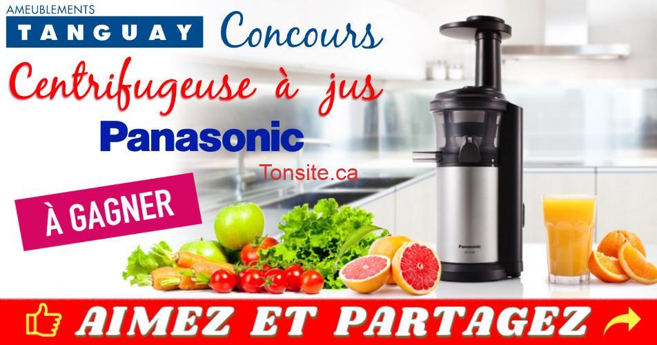 tanguay concours 2019 1 - Concours Tanguay: Gagnez une centrifugeuse à jus de marque Panasonic (valeur de 369,99$)