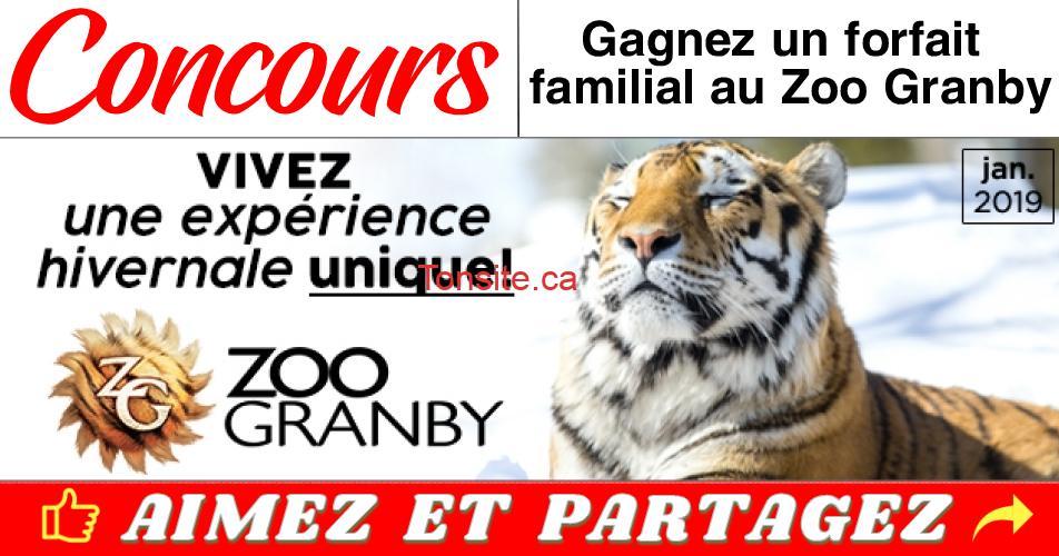 zoo granby concours hiver 1 - Gagnez un forfait familial au Zoo Granby