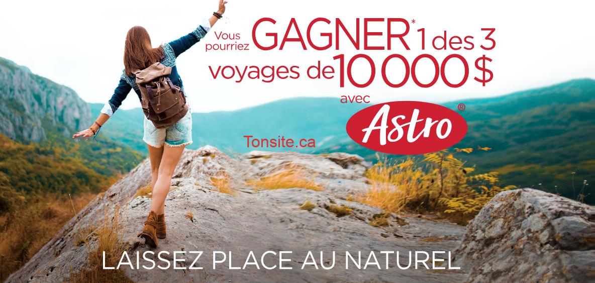 astro concours - Concours Astro: Gagnez 1 Des 3 Voyages De 10,000$