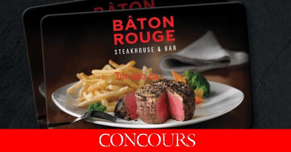 baton rouge concours - Gagnez une carte-cadeau de 100$ au Restaurant Bâton Rouge