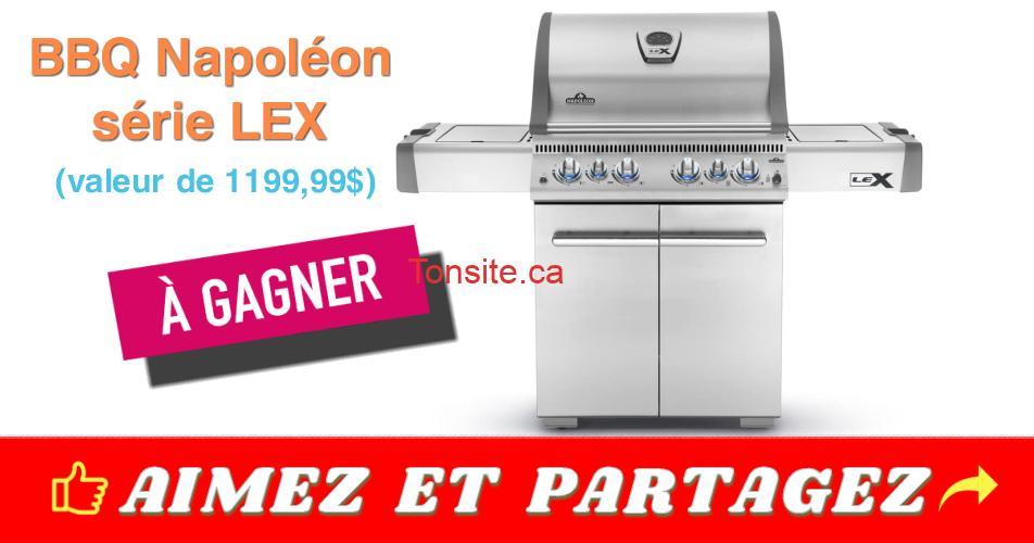 bbq concours1 - Gagnez un BBQ Napoléon, série LEX (valeur de 1199,99$)