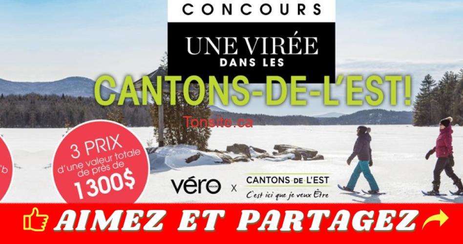 cantons de lest concours - Concours Vero: Gagner l'une des trois escapades parfaites dans les Cantons-de-l'Est!