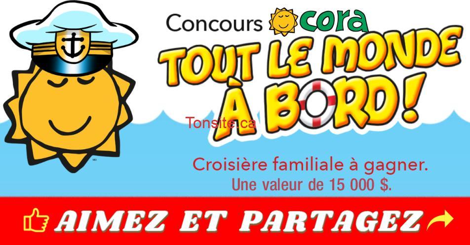 cora concours croisiere - Concours Cora: Gagnez une croisière familiale d'une valeur de 15.000$