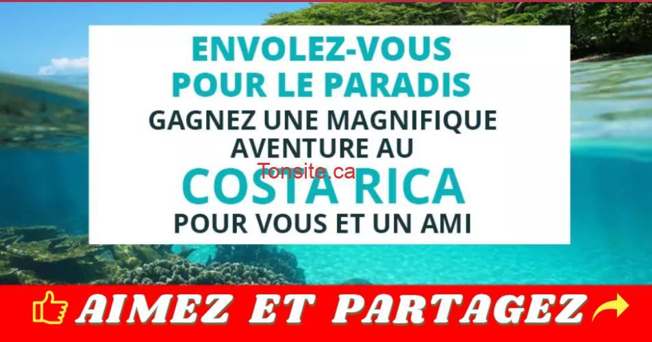costcarica concours - Concours TVA: Gagnez une magnifique aventure au Costa Rica pour vous et un ami