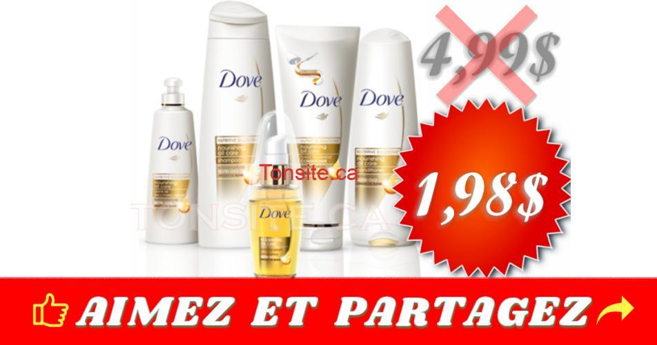 dove capilaire 198 499 - Shampoing ou revitalisant Dove à 1,98$ au lieu de 5,99$