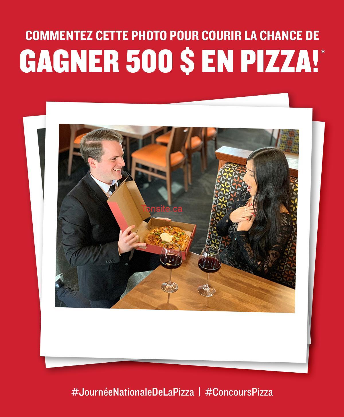 ei - Vous voulez gagner 500 $ en Pizza? Ne rater pas votre chance, aujourd'hui seulement!