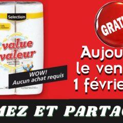 essuie tout gratuit 240x240 - Aujourd'hui seulement: Obtenez un emballage de 2 rouleaux de papier essuie-tout Selection GRATUITEMENT!