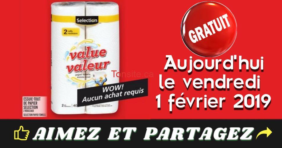 essuie tout gratuit - Aujourd'hui seulement: Obtenez un emballage de 2 rouleaux de papier essuie-tout Selection GRATUITEMENT!