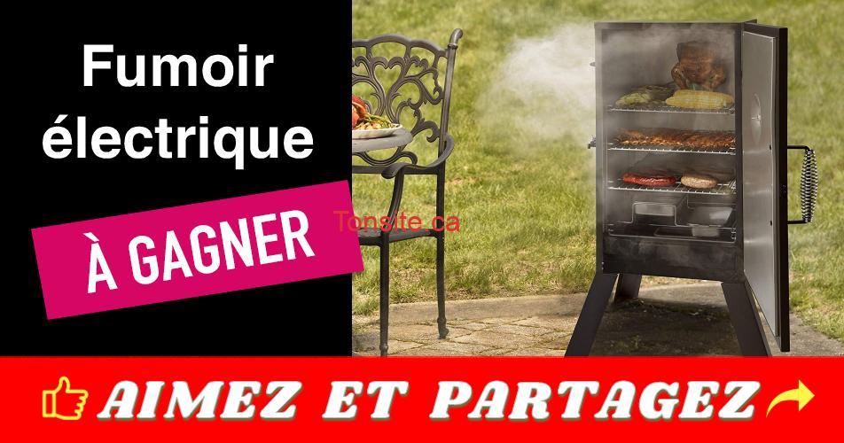fumoir concours - Gagnez un fumoir électrique Cuisinart
