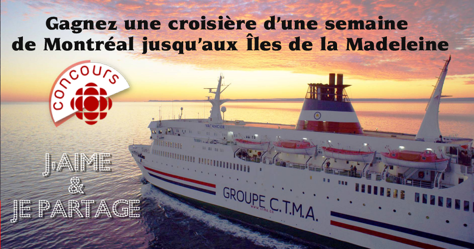 iles de la madeleine concours1 - Concours Radio Canada: Gagnez une croisière d'une semaine de Montréal jusqu'aux Îles de la Madeleine pour 2 personnes