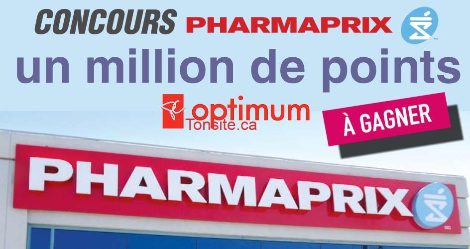 pharmaprix concours4 - Concours Pharmaprix: Gagnez un million de points PC Optimum (10 gagnants)