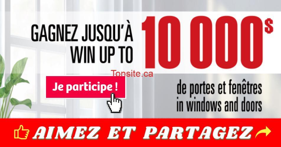 portes fenetres concours - Gagnez jusqu'à 10 000$ en portes et fenêtres