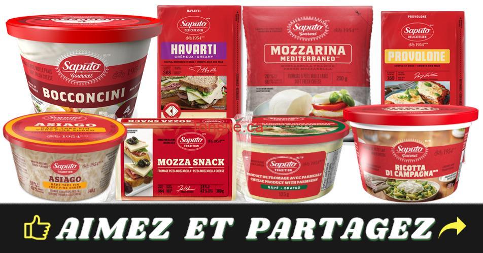 saputo produits - Gagnez 1 an de fromage Saputo !