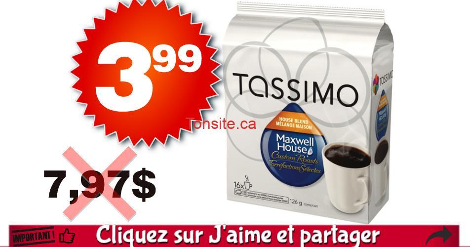 tassimo 399 797 off - Café en portions individuelles Tassimo à 3,99$ au lieu de 7,97$