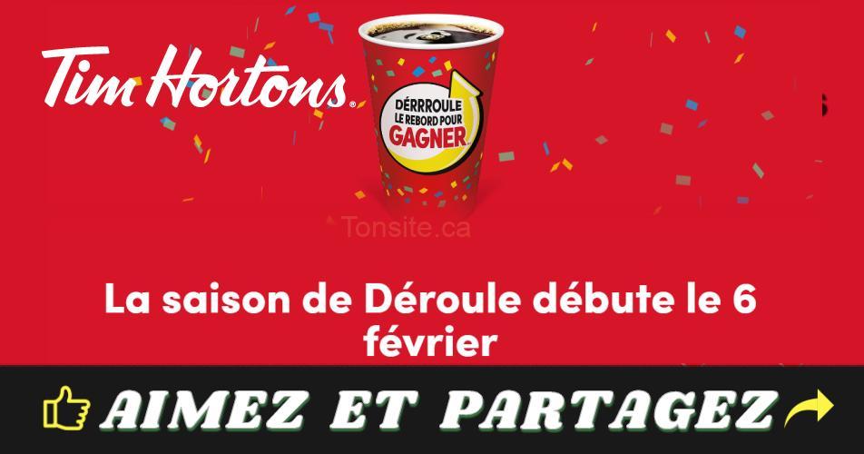 tim hortons2019 1 - Concours Tim Hortons « Déroule le rebord pour gagner 2019 » sera lancé bientôt!