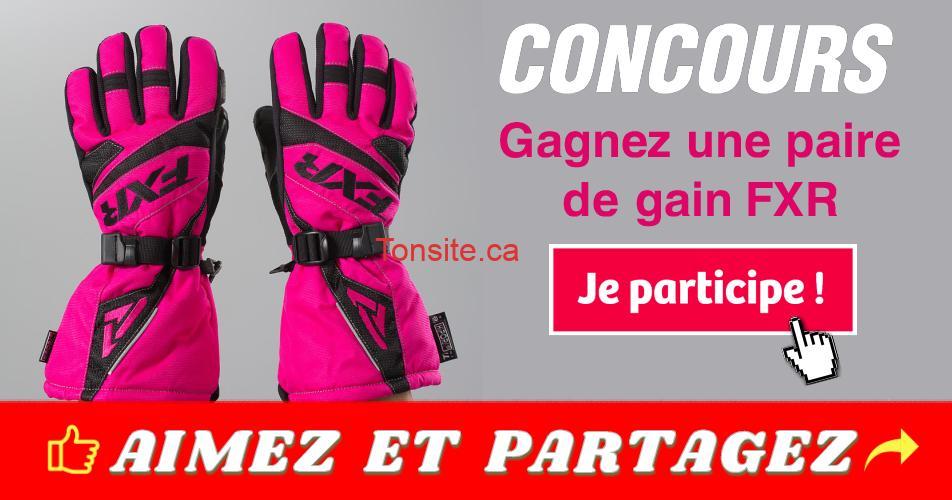 FXR concours - Gagnez une paire de gants FXR d'une valeur de 113,95$