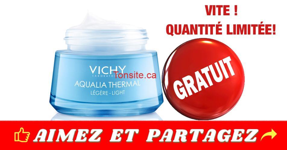 VICHY thermal - GRATUIT: Obtenez un échantillon gratuit de la crème Vichy Aqualia Thermal Légère