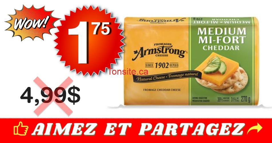amstrong 175 499 - Fromage Cheddar Amstrong à 1,75$ au lieu de 4,99$
