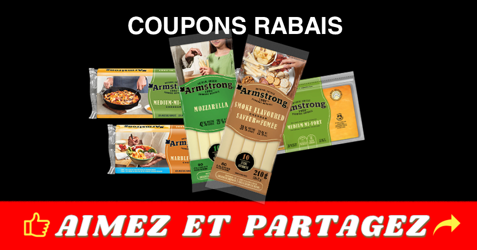 amstrong coupons - Coupons rabais sur les fromages Amstrong