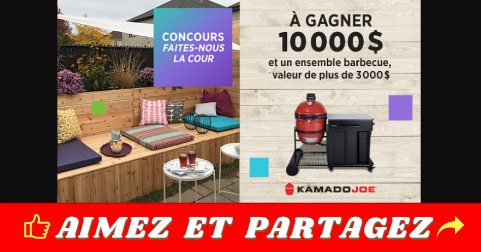 bbq concours5 - Gagnez 10 000$ et un ensemble barbecue , valeur de plus de  3000$