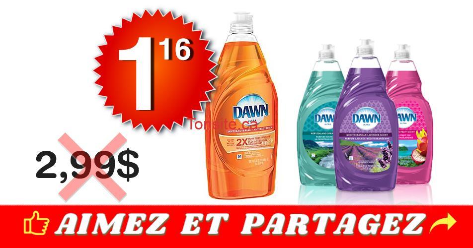 dawn 116 299 - Liquide à vaisselle Dawn Ultra à 1,16$ au lieu de 2,99$